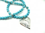 Celtic heart necklace set
