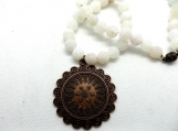 Chunky white and copper necklace