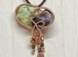Heart Pendant, Boho Hippie necklace, handmade, jewelry for women