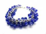 Royal blue cha cha bracelet