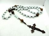 Traditional catholic rosary prayer beads