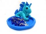 Unicorn with blue mane and girls bracelet