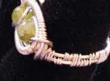 Peridot birthstone ring, August birthday ring