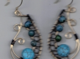 Turqouise Swirl Earrings