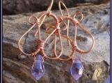 Egyptian Purple Goddess Earrings