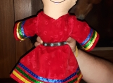 Storytelling (Pow Wow) Indigenous Doll (1 Doll) (Yes, Add Shawl (Extra $5.00))