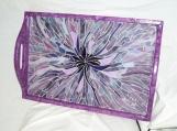 Amethyst Bloom - Art Glass - Serving Tray