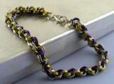 Dancing Orchids Double Spiral Bracelet
