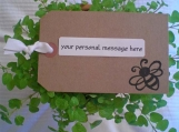 ::PERSONALIZED HANDCRAFTED GIFT TAG::