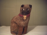 SALE FREE SHIPPING Handpainted Stuffed Dog