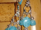 Silver and Blue Chandy