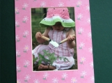 Think Spring! 8x10 Mat holds a 5x7 Picture.