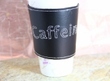 ECO FRIENDLY Embroidered coffee sleeve by Mocha Mitts