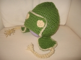 Green Earflapper Hat - Size 1-3yrs