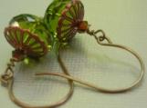 green pagoda earrings
