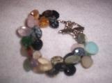 Multi colored gemstone teardrop bracelet