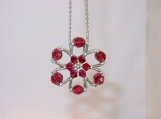 """Snow Flake"" Purse Charm / Ornament / Room Decor - 4 colours"