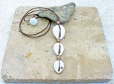 Cowrie Shell Drop Dangle Necklace
