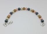 Multicolor Rainbow Pearl Bead Bracelet (7.5)