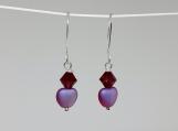 Red Heart Crystal Bead Earrings