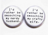 1 Inch Pinback Buttons-The Dynamic Duo
