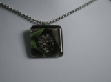 Dr. Doom Glass Tile Pendant