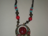 Gorgeous Blue Red Stone necklace