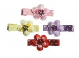 Jeweled Flower Hair Clips