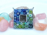 ON SALE: Square Mosaic Pendant with Italian Millefiori Tiles