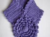 PDF Pattern Crochet Multi petal lavender flower scarflette