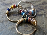 bejeweled-- custom nose ring or single hoop