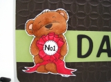 Father's Day Card - Stamped Bear Embossed Brown