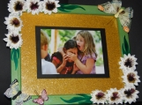 Flower & Butterflies Picture Frame