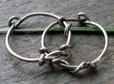 sensitive vine-- niobium hoop earrings-- primitive series