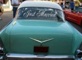 Simple Wedding Getaway Car Decals