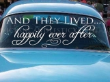 Wedding Getaway Car Decals And They Lived Happy Ever After