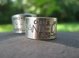 Custom Goose Band Ring.for rings sz 10 and larger . sterling