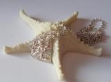 Handmade, sterling silver, scrap metal pendant