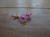 ON SALE!!  Purple Lavendar Trumpet Blossoms Earrings with Pearls