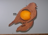 Oriole Bird Feeder / Orange / Apple