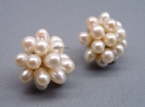 Fresh water pearl earring. Simply elegance 5-6 mm.