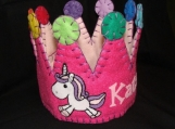 Unicorn Horse Felt Party Crown