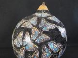 Hand-Carved Gourd, Butterflies