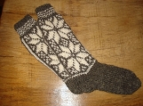Handknit Knee-high Women Woollen Socks