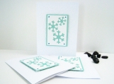 Snowflake Cards Christmas Holiday Set of Three