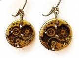 Antique brass-plated Earrings