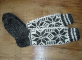 Handknit Knee-High Women Woolen Socks