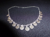 Sterling Silver Necklace with 14 Sterling Silver Discs