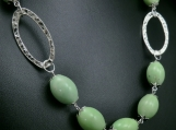 Lime green porcelain bead necklace