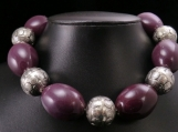 Purple pocelain necklace
